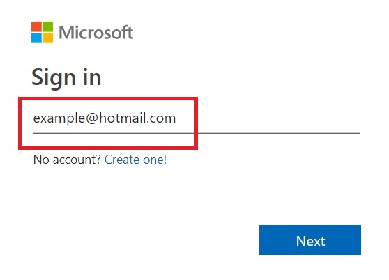hotmail login english
